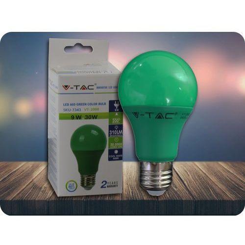 E27 led kolorowa żarówka 9w (310lm) - zielona + bezpłatna natychmiastowa gwarancja wymiany! marki V-tac