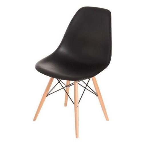 Krzesło P016W PP inspirowane DSW - czarny, kolor czarny