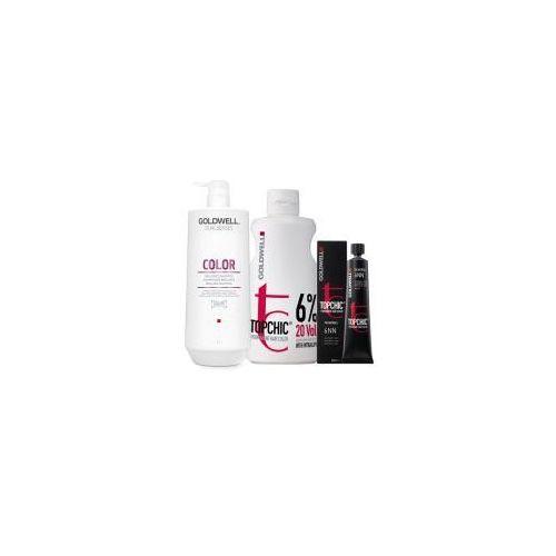 topchic, zestaw do koloryzacji włosów: farba + oxydant + szampon marki Goldwell