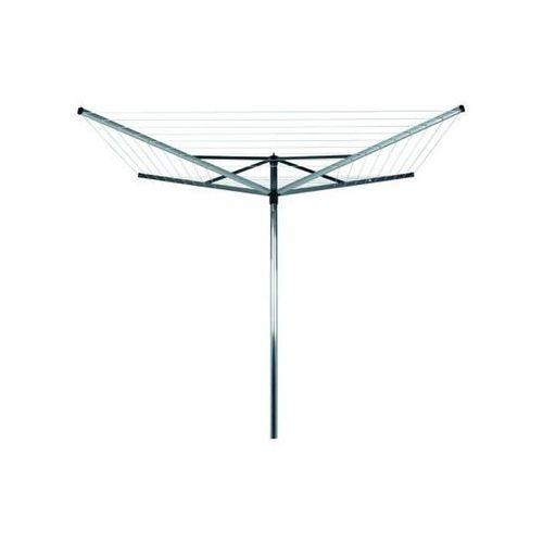 Brabantia - Suszarka ogrodowa Lift-O-Matic 60m, 4 ramiona, pokrowiec - mocowanie stalowe (do gruntu) - szary