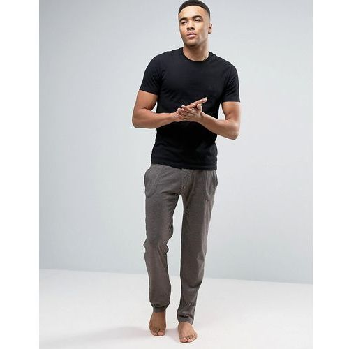 Original Penguin Lounge Bottoms in Charcoal with Contrast Rib - Grey
