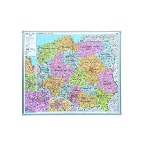 2X3 Mapa Polski administracyjna magnetyczna 1:700 000, 102x120 cm