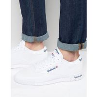 Reebok ex-o-fit leather trainers in white ar3169 - white