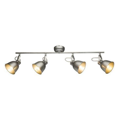 Globo Listwa hernan 54651-4 lampa sufitowa spot 4x40w e14 srebrny szary (9007371360529)