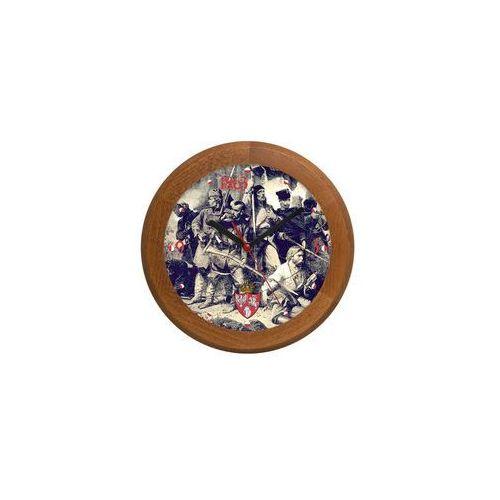 Zegar drewniany rondo powstanie styczniowe marki Atrix