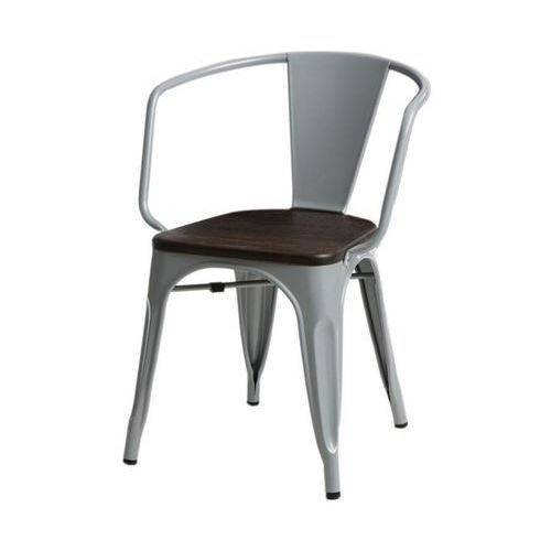 Krzesło Paris Arms Wood szare sosna szcz otkowana, kolor szary