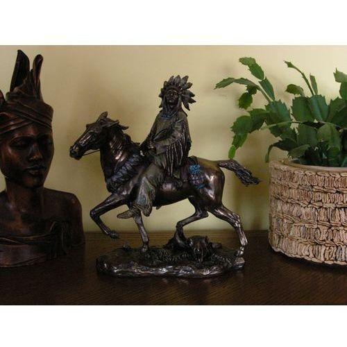 Rzeźba - indianin na koniu - marki Veronese