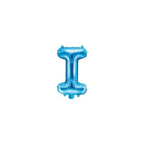 """Balon foliowy litera """"I"""" niebieska - 35 cm"""