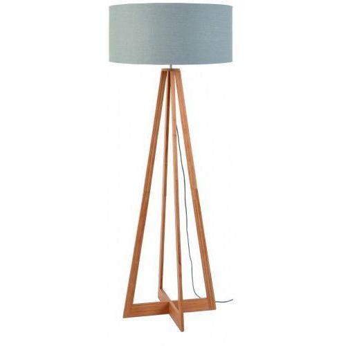 Lampa podłogowa everest bambus 4-nożna 127cm/abażur 60x30cm, lniany jasnoszary marki It's about romi