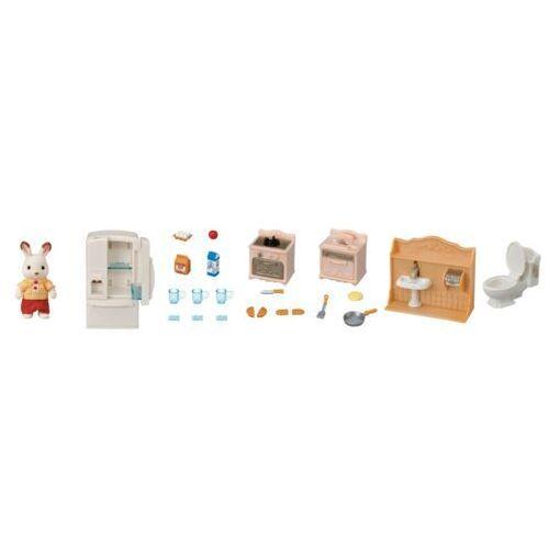 zestaw startowy - meble i figurki królik tata 5479 marki Sylvanian families