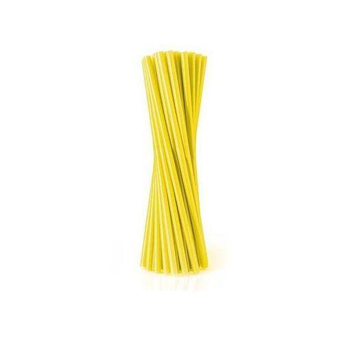 Go Słomki - rurki żółte proste - 24 cm - 500 szt. - żółty