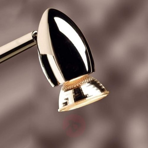 Funkcjonalna lampa wtykowa Apollo biały chrom