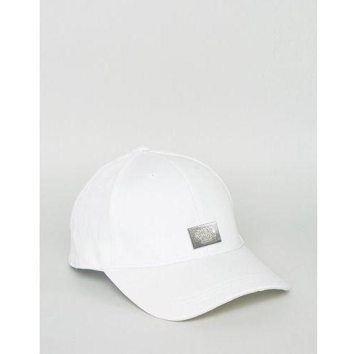 baseball cap with metal logo detail - white marki Cheap monday