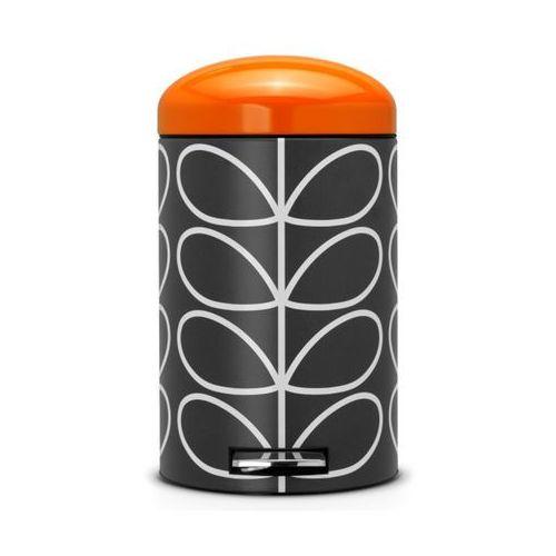 Kosz na odpadki 12l Retro Silent - Orla Kiely Charcoal Brabantia ()