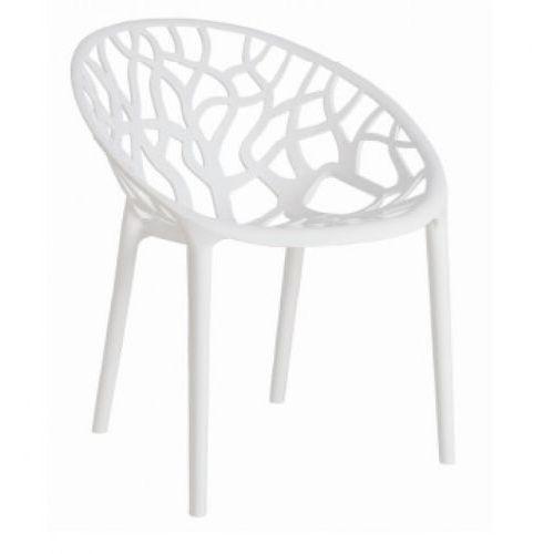 Krzesło Coral - pomarańczowy ||transparentny, DII/coral