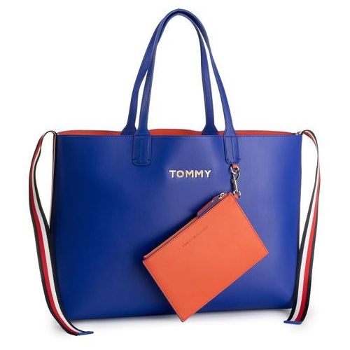 Tommy hilfiger Torebka - iconic tommy tote aw0aw06833 902