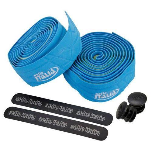 Selle italia smootape gran fondo owijka kierownicy eva żel 2,5 mm niebieski owijki kierownicy