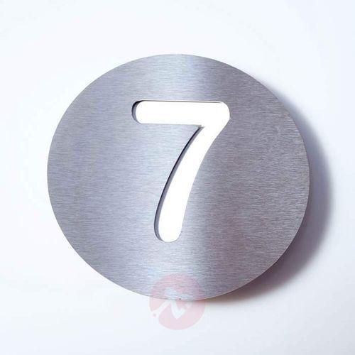 Absolut/ radius Tabliczka z numerem domu round, stal szl. – 7 (4250208614295)