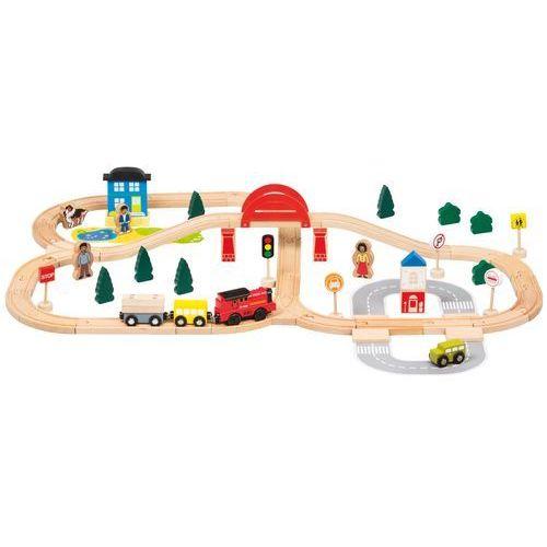 BINO Zestaw kolejowy 70 szt., na baterie (4019359822085)