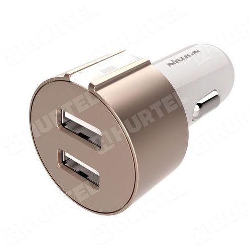 NILLKIN uniwersalna ładowarka samochodowa 2 x USB 3.4A złota - Złoty, kup u jednego z partnerów