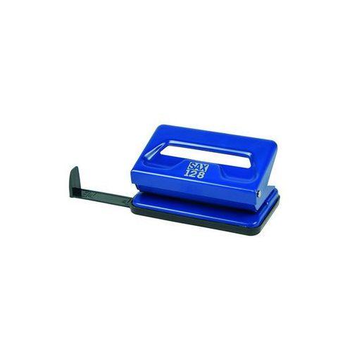Dziurkacz SAX128S, dziurkuje do 12 kartek, niebieski