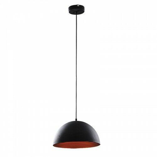 Lampa wisząca zwis Rabalux Nella 1x60W E27 czarny/złoty 3956, 3956
