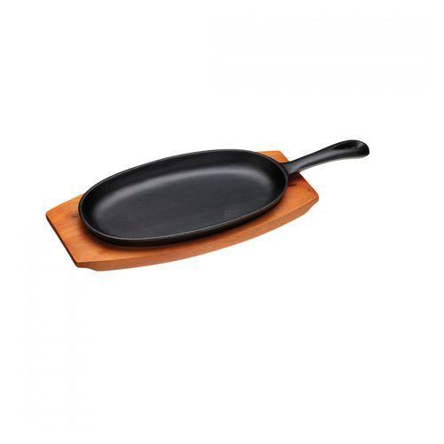Kitchen craft Patelnia żeliwna podłużna z deską do serwowania world of flavours