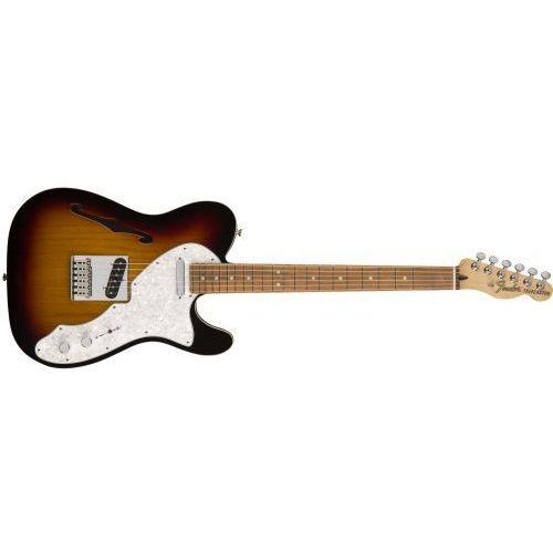 Fender deluxe telecaster thinline, pau ferro fingerboard, 3-color sunburst