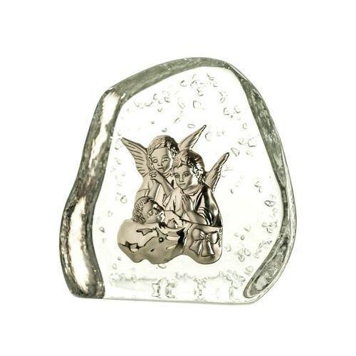 Skałka kryształowa aniołki z dzieciątkiem 4010, 4010