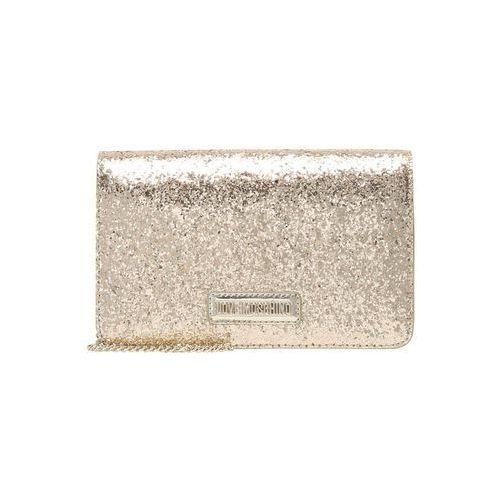 Love Moschino GLITTER CROSSBODY Torba na ramię oro (8050537672111)