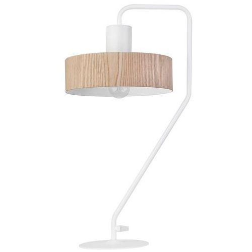 LAMPA stołowa VASCO FORNIR 50115 Sigma stojąca LAMPKA drewniana na wysięgniku drewno biała (5902846813262)