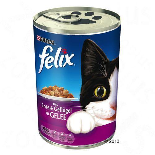 FELIX Adult kaczka z drobiem w Galarecie 400g puszka