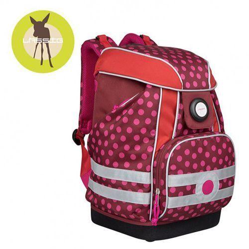 Lassig Plecak szkolny XL ze sztywnymi plecami, i wodoodpornym dnem Dottie red, kolor czerwony