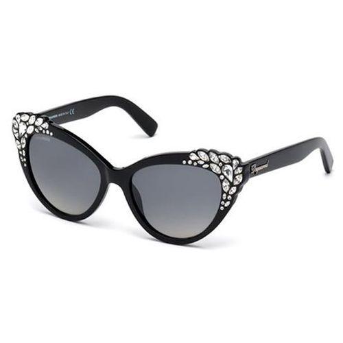 Okulary słoneczne dq0168/s elizabeth 05b marki Dsquared2