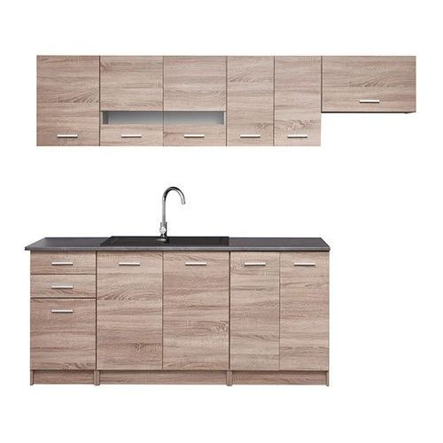 Gotowy zestaw mebli kuchennych laguna 2,4 m marki Deftrans