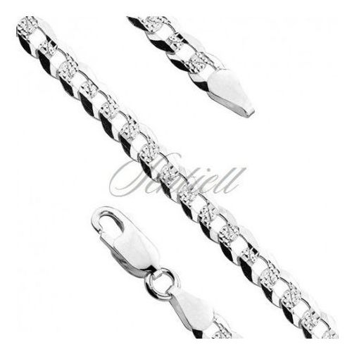 Silver (925) diamond-cut chain - curb extra flat pave Ø 0100 - cuexpv100 marki Sentiell