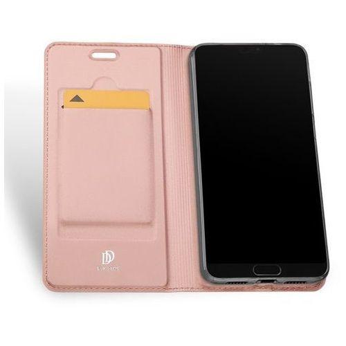 Etui Skin Pro DuxDucis do Huawei P20 różowo-złote