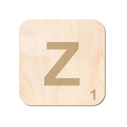 Drewniana dekoracja na ścianę scrabble - literka Z