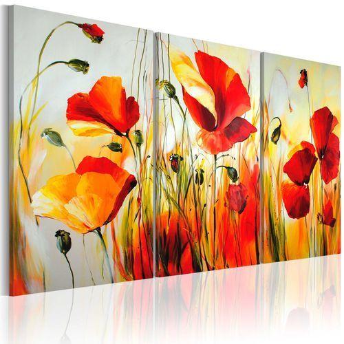 Artgeist Obraz malowany - czerwona łąka