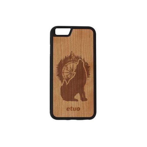 Etuo wood case Apple iphone 6 - etui na telefon wood case - czereśnia - górski wilk