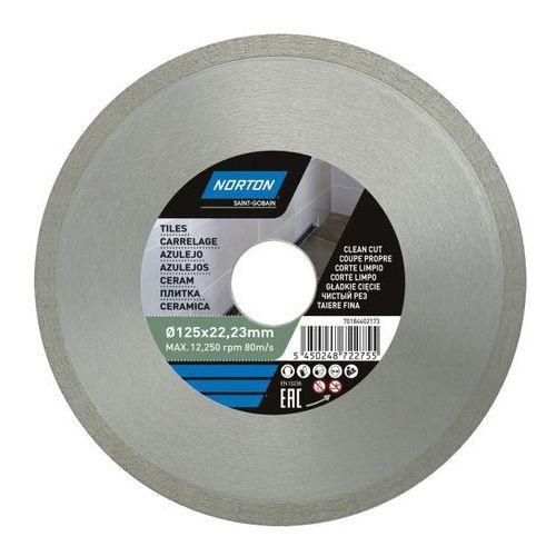 Tarcza diamentowa Norton do cięcia ceramiki 125 x 22 23 mm (5450248722755)