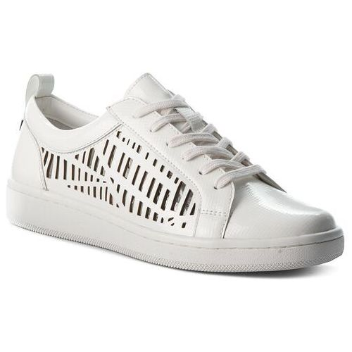 Calvin klein Sneakersy black label - denise e5593 platinum white