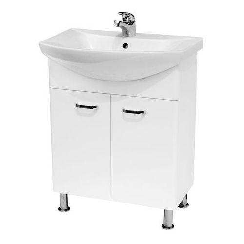 Cersanit Zestaw szafka diuna z umywalką 65 cm biała (5902115727948)