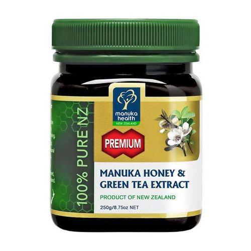Manuka health Miód manuka 250+ z ekstraktem z zielonej herbaty 250g