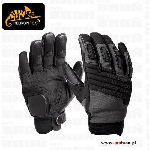Rękawice helikon impact heavy duty (rk-ihd-po-01) czarne, żelowe wstawki, wzmacniane marki Helikon tex