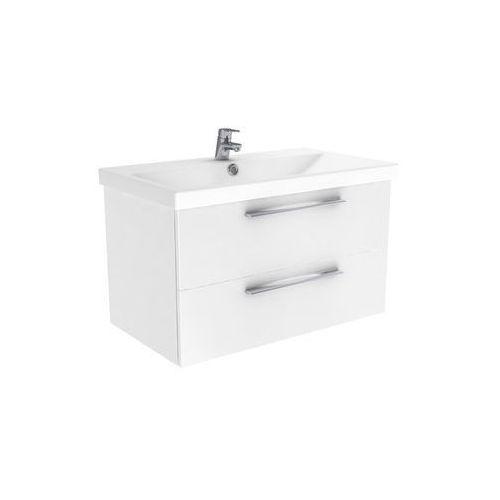 New Trendy Notti szafka wisząca + umywalka biały połysk 70 cm ML-8084/U-0090, ML-8084/U-0090