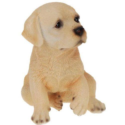 Wiernie odwzorowująca każdy detal figurka psa z poliresingu, figurka dekoracyjna do domu lub ogrodu