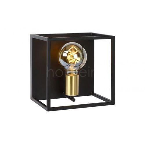Lucide Ruben 00224/01/30 Kinkiet lampa ściena 1x40W E27 czarny/satynowy mosiądz (5411212000170)