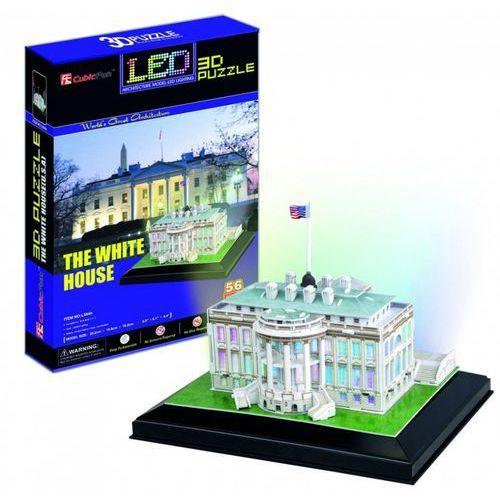 Puzzle 3d led biały dom 56 el. marki Cubicfun