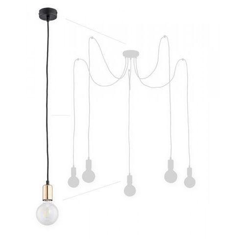 Lemir Maris O2755 W5 CZA + MIE lampa wisząca zwis pająk 5x60W E27 czarny mat / miedź (5902082868422)